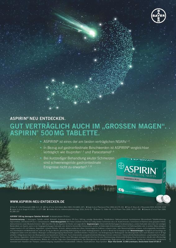 Fachanzeige Aspirin / Bayer
