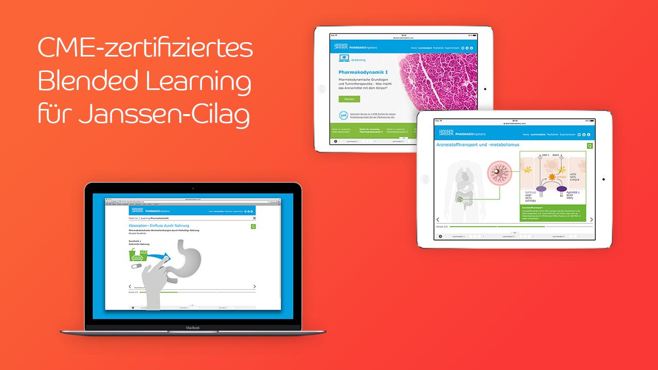 CME-zertifiziertes Blended Learning für Janssen-Cilag