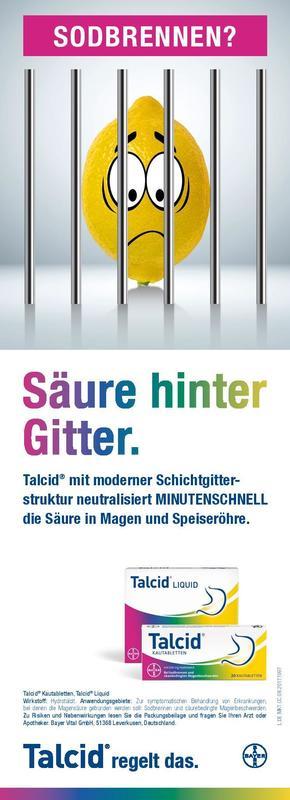 Consumer-Anzeige Talcid / Bayer