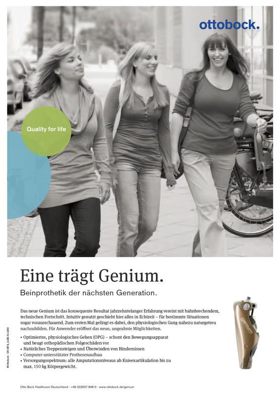 Anzeige GENIUM / ottobock